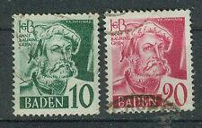 Alliierte Besetzung Briefmarken 1948/50 FBZ Baden Mi 33 und 34
