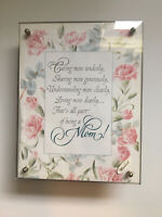 Gift for MOM Vintage Framed  Poem  Mechanical Music Box  Summit Corp