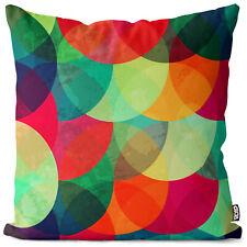 Bunte Kreise Kissenbezug gemustert Kreise Bunt Muster Grafik Kunst Farben Maler