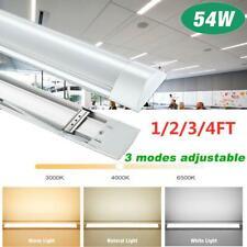 1/2/3/4FT LED Batten Tube Light For Garage Workshop Ceiling Panel Dimmable Lamp