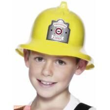 Enfants Garçons Filles Pompier Jaune Sam Casque Uniforme Déguisement