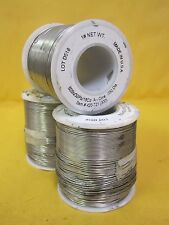 Three (3) 1 lb. Spool Acid Core Soft Soldering Wire Low Melt .032"