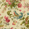 Cotton Birds Floral Flowers Blooms Spring Fabric Print by the Yard D384.29