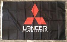 Mitsubishi Lancer Logo 3X5 Garage Wall Banner Flag Man Cave Shop FREE SHIPPING