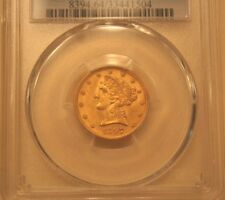 1897 $5 GOLD HALF EAGLE PCGS MS-64 <NEAR GEAM--HIGH GRADE> SCARE AT THIS LEVEL<>