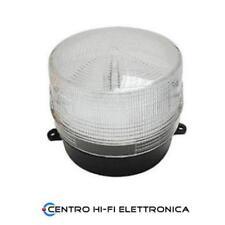Lampeggiante Flash Bianco 12V Segnalatore Emergenza Tenuta Stagna