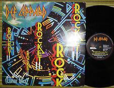 """DEF LEPPARD, ROCKET (LUNAR MIX), 12"""" EP 1988 UK VG/VG+"""