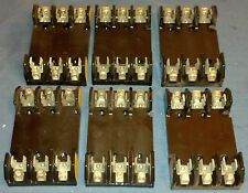 Lot of Buss Fuse Holders 6-30 amp 3 pole + 1-60 amp 3 pole + 1-30 amp 2 pole +