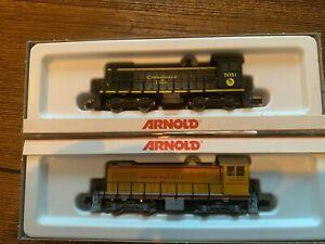 N Scale Rake of 2 Arnold Alco S2 Locomotives