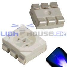 100 x LED PLCC6 5050 Blue SMD LEDs SMT Light Super Ultra Bright Light Car PLCC-6
