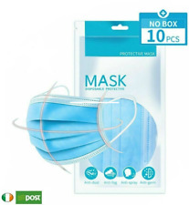 10 PCS Protection 3-Layers Fabric MOUTH AND NOSE COVER/FACEmasks