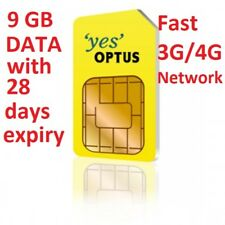 OPTUS 9GB DATA SIM WITH 28 DAYS EXPIRY MOBILE BROADBAND ON 4G/3G FAST NETWORK