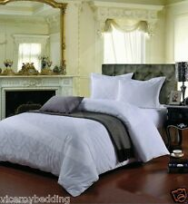 100%25 Cotton 400 Thread Count Jacquard Duvet Cover and Pillow Cases Bedding Set
