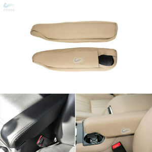 Beige For Land Rover Discovery LR3 LR4  L&R-Leather Seat Armrest Handle Cover