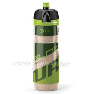 ELITE Turacio Cork Insulating Panel 3-Hour Thermal Water Bottle 500ml, Green