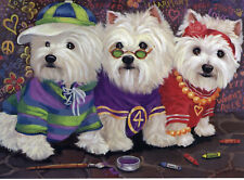 Precious Pet Note Cards - West Highland White Free Spirits ~ Charity!!