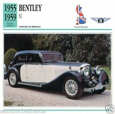 BENTLEY S1 1955 1959 CAR VOITURE Great Britain GRANDE BRETAGNE CARTE CARD FICHE