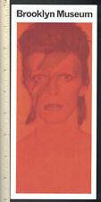 David Bowie Brooklyn Museum 2018 Seas Exhibits Guide; Flyer Ad Brochure Program