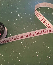 """theRIBBON BOUTIQUE tm Baseball """"TAKE ME OUT TO THE BALL GAME""""Ribbon Partial Roll"""