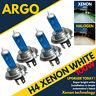 H4 Xenon Super White 100w Bulbs Main Beam 12v Headlight Headlamp Hid Light X 4