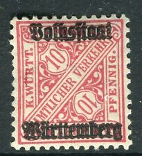 WURTTEMBERG;  1919 Official VOLKSSTAAT Optd. mint hinged 10pf. SP-245376