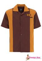 King Kerosin  2-Tone Bowlingshirt  Country Style Hemd 50er Rockabilly Hillbilly