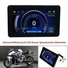 Universal Motorcycle LCD Screen Speedometer Digital Odometer Speed Meter +Sensor