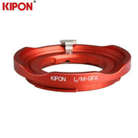 Kipon Red Adapter for LM to GFX Leica M Mount Lens to Fuji Fujifilm GFX Camera
