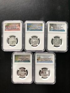 2018 - S  25C SILVER FIRST RELEASES SET NGC- PR-70UC RARE