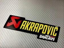 Adesivo Sticker AKRAPOVIC Ducati Alte Temperature High Temperatures Exhaust