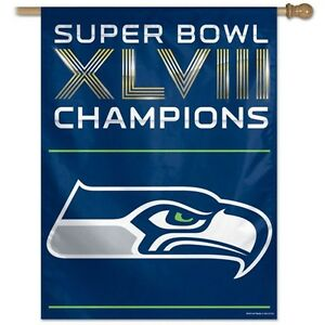 Seattle Seahawks Officially Licensed Super Bowl XLVIII Champions Banner Flag
