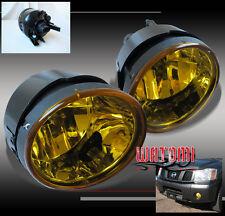 BUMPER DRIVING YELLOW FOG LIGHT LAMP +BULB FOR 04-15 TITAN/05-07 ARMADA 09 10 11