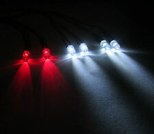 R/c Buggy Auto Camión Luz Led Kit / 2x Rojo 4x blanco LED 5mm está interruptor + PP3 Clip