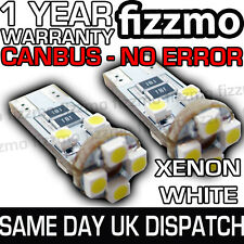 2x 8 SMD LED 501 T10 W5W WEDGE CANBUS NO ERROR FREE XENON WHITE SIDE LIGHT BULB