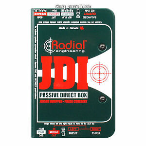 Radial JDI MK3 Passive DI Direct Box w/ Jensen Transformer