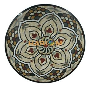 """42"""" Marble Dining Table Top Multi Stone Mosaic Sofa Center Decoratives Top B039"""