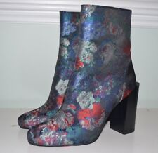 New Jeffrey Campbell Floral Satin Tapestry High heel Boots 8