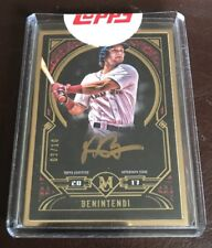 2017 TOPPS MUSEUM COLLECTION ANDREW BENINTENDI GOLD FRAME AUTOGRAPH AUTO 3/10
