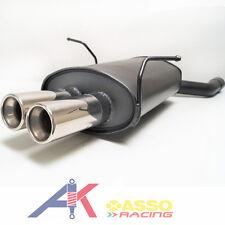 Sportauspuff Endschalldämpfer BMW 3er E46 1998>2005 ASSO Racing 2x76mm mit ABE
