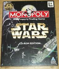 STAR WARS MONOPOLY CD ROM EDITION HASBRO GAMES NEW SEALED