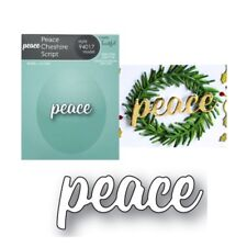 Peace Cheshire Script Words Metal Die Cut Memory Box Cutting Dies 94017