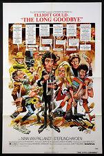 THE LONG GOODBYE ELLIOTT GOULD ROBERT ALTMAN CHANDLER 1973 1-SHEET NM