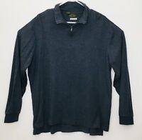 Orvis Fishing Gray Sueded Cotton Long Sleeve 1/4 Zip Pullover Men's XL Shirt