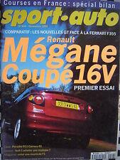revue sport auto 1995 RENAULT MEGANE Coupé 16V / PORSCHE 911 CARRERA S4 / F355