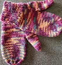 Home-made Womens' Mittens ~ Pink/Orange/Purple in Color ~ 9.5