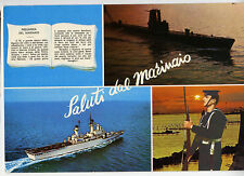 MARINA MILITARE Incrociatore Vittorio Veneto Sommergibile Saluti Marinaio  RARA