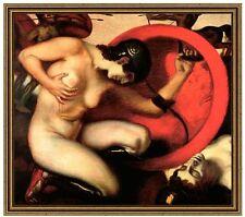 Franz di stucco 20 feriti Amazone tela 42x48 mitologia guerriera feez