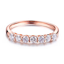 Solid 10K Rose Gold Vintage Special Jewelry 1ct Moissanite Wedding Bands Ring
