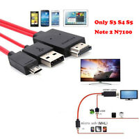1.8M MHL Micro USB to 1080P HDMI HDTV AV TV Adapter Cable For Samsung Galaxy New