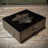 Bluntly Guzman Stash Handmade Wooden Box Tobacco Weed Herbal Storage Organiser